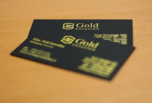 gold solution foolio visiitkaardid