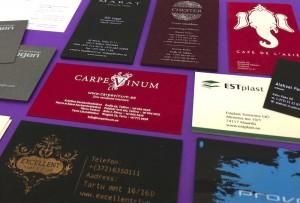 Siiditrükiga visiitkaardid – huvitavad lahendused vastuvõetava hinnaga!
