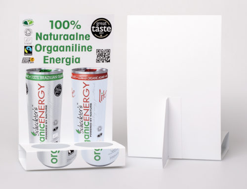 Organic Energy Drink Table Tent