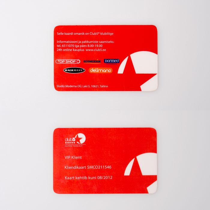 Club5 plastikkaardid