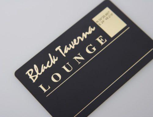 Black Taverna Lounge Plastikkaardid