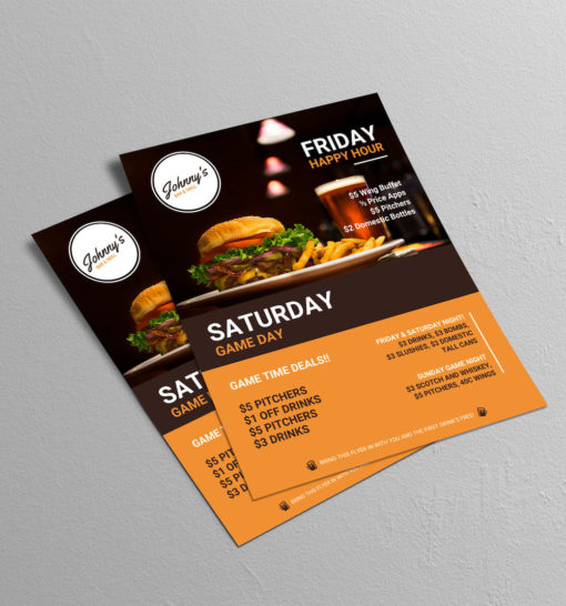 Creative Bar Restaurant Event Flyer Template