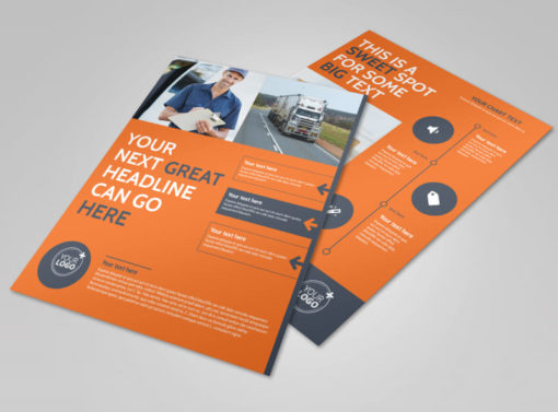 moving company flyer template 1