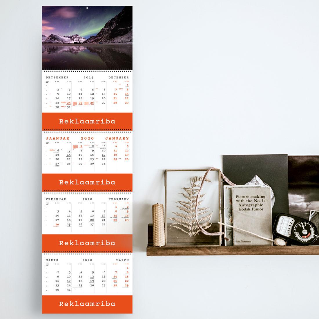 Kalender QUATTRO nelja reklaamribaga