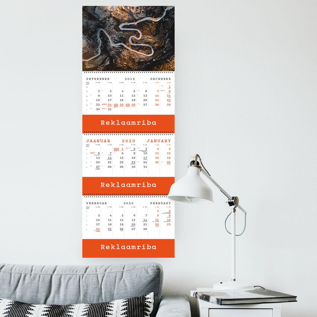 Kalender TRIO EXTRA kolme reklaamribaga